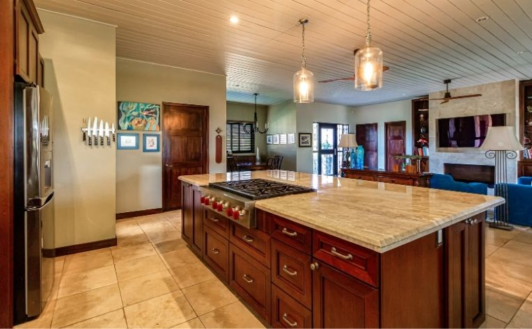 Less Grout Kitchen Flooring Example